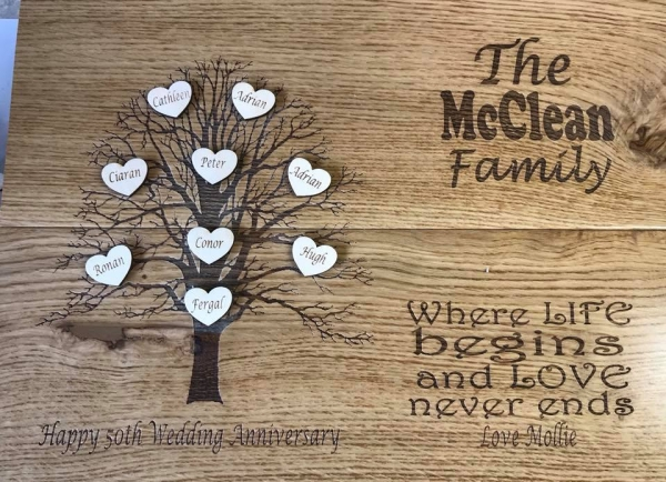 personalised family tree baord