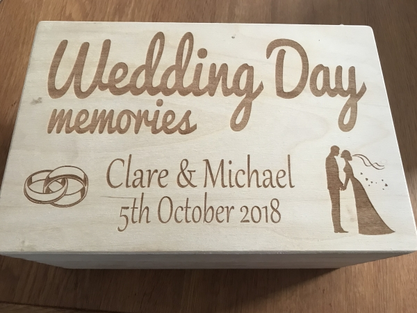 wedding day memory box