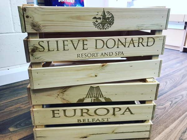 Large Crate - with your message / logo